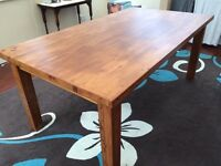 Ikea Forsby Solid Pine Table & 6 chairs