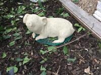 Garden statue Stone pig