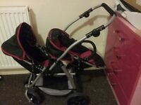 dolls pram, double buggy, twin pram, dolls, girls toys, stroller, outside toys, role play,