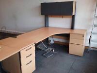 Corner Desk 180cm X 120cm with overhead storage. Delivery.