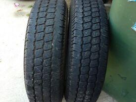 """Set of 2 x 165 x 13"""" tyres commercial van caravan"""