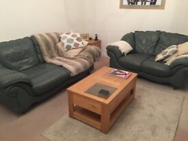 LEATHER SOFA, 3 SEATER AND 2 SEATER GOOD CONDITION