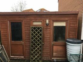 Wooden garden office/shed