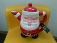 FATHER CHRISTMAS TEAPOT AND CUP ALL IN ONE NEW