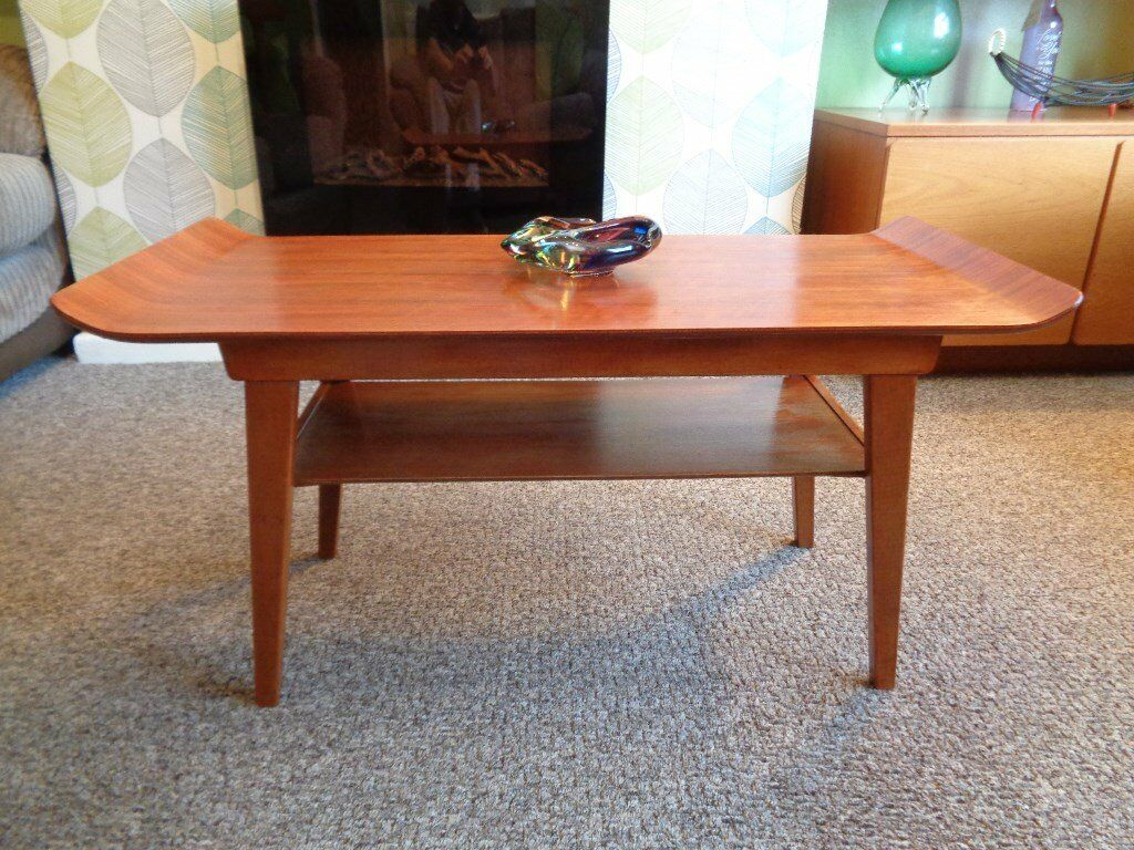 Vintage Mid Century Teak Bent Ply Coffee Table