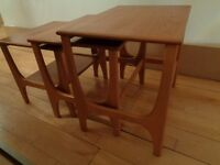 Vintage Nest of three tables. Lovely shape and style