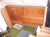 Book shelving, pine, ex. library