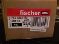 Fischer rawl bolts 8mm x 65ml