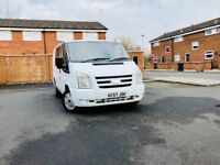 ford transit 2.0diesel 07 plate genuine crew crab 7 seater 6 months warranty and full history servic
