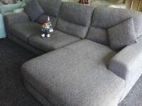 Sofology grey corner sofa coaster arm's delivery extra