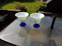 Beautiful Blue & White Vases - Very Heavy