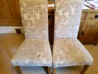 2 x Oak Furniture Land Beige Dining Chairs. Offers Considered