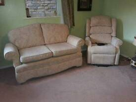 Rise and Recline chair and Two Seater Sofa/Chaise