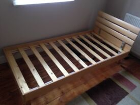 Two Solid single beds with clean mattresses