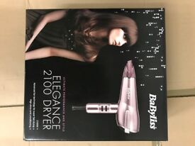Babyliss Elegance 2100 Hairdryer - New