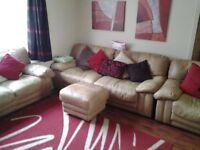 Genuine leather lounge suite.