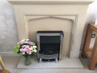 Fire surround and electric flame effect fire