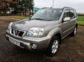 2003 NISSAN X-TRIAL SE+ 2.0 4X4.LOW MILAGE 38K.NEW FULL MOT.No advisory.NEW OIL+FILTER.SILVER.5D.VGC