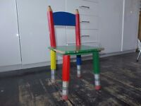 IKEA POANG PENCIL WOODEN CHILDRENS CHAIR