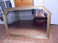 2 HEAVY LARGE MIRRORS - (27X39 INCHES)