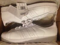*NEW WITH TAGS* Adidas Superstar Foundation WHITE Trainers Size UK 12 EU 47.5