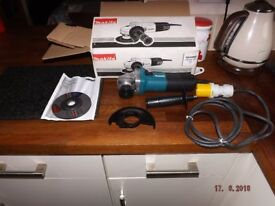 Makita Angle Grinder 110v boxed never used see pictures