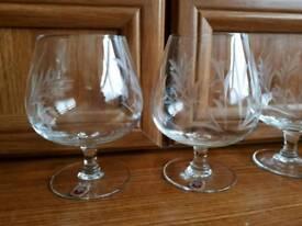 Crystal brandy glasses set 6