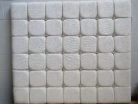 Reduced price!!!! Brand new double headboard in cream fabric with crystal buttons