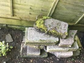 Free to collector, breeze blocks and rocks