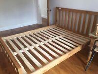 King Size Oak Bed Frame (John Lewis Cooper model) and Alphabeds matress