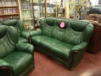 italian leather 3 piece suite