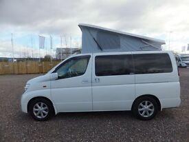 Nissan Elgrand 2 & 4WD with Pop Roof Motorhome Day van Camper Van For Sale