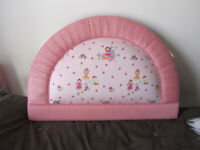 GIRLS SINGLE HEADBOARD IN PINK DESIGNER MADE WITH LAURA ASHLEY FABRIC FOR SINGLE BED