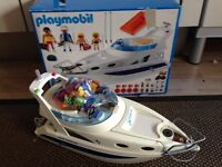Playmobil 3645, Blue Marlin Yacht, 100% complete, excellent condition