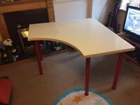 Large white corner office table / desk
