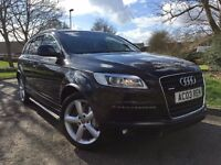 AUDI Q7 3.0 TDI S LINE QUATTRO ** 7 SEATER**FULL SERVICE HISTORY**Just Serviced**