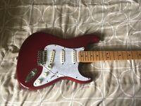 Guitar mim 2011 Fender strat red