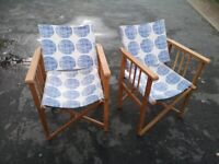2 Director chairs excellent condition £40