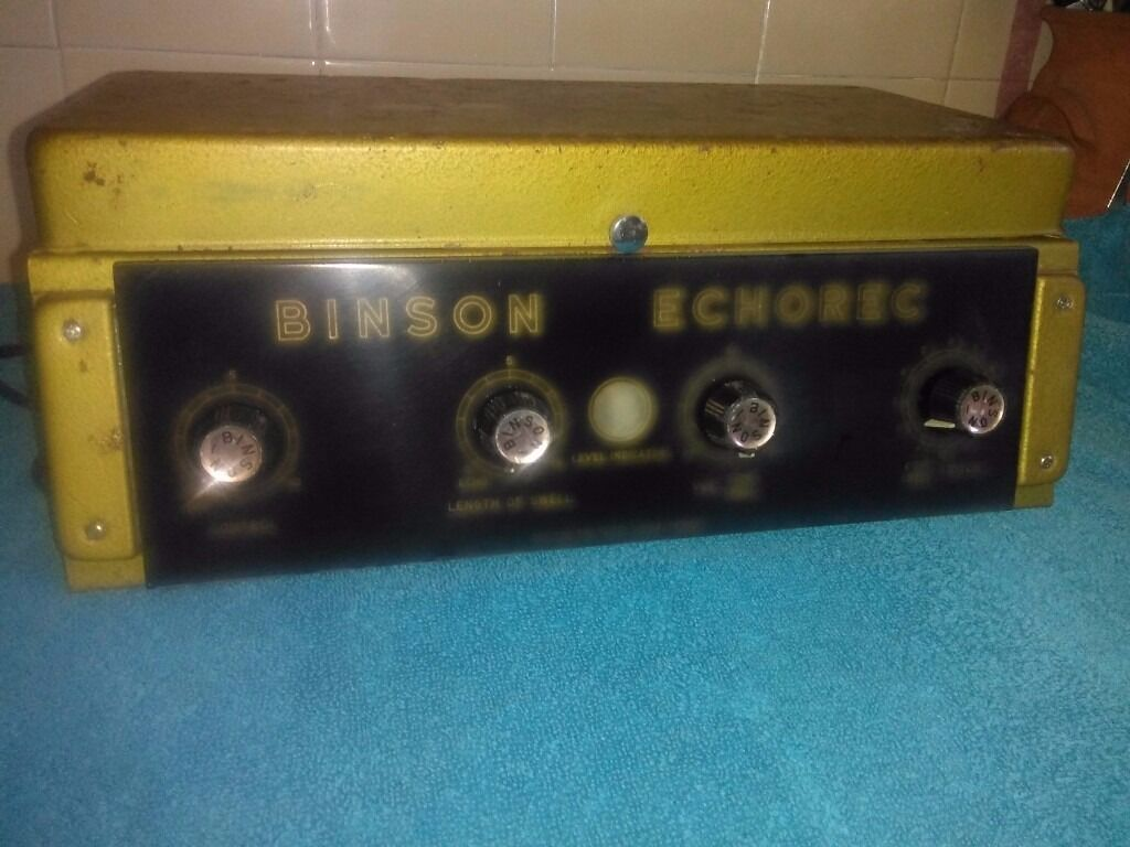 Wonderful Early Binson Echorec B1S Rare Model Echo Delay Unitin Newton Abbot, DevonGumtree - Here we have for sale a Wonderful Early Binson Echorec B1S Rare Model Echo Delay Unit If you are looking at this you will already know just how good and thought after these are. The Binson B1S was produced around 1960 and thought of one of the best....