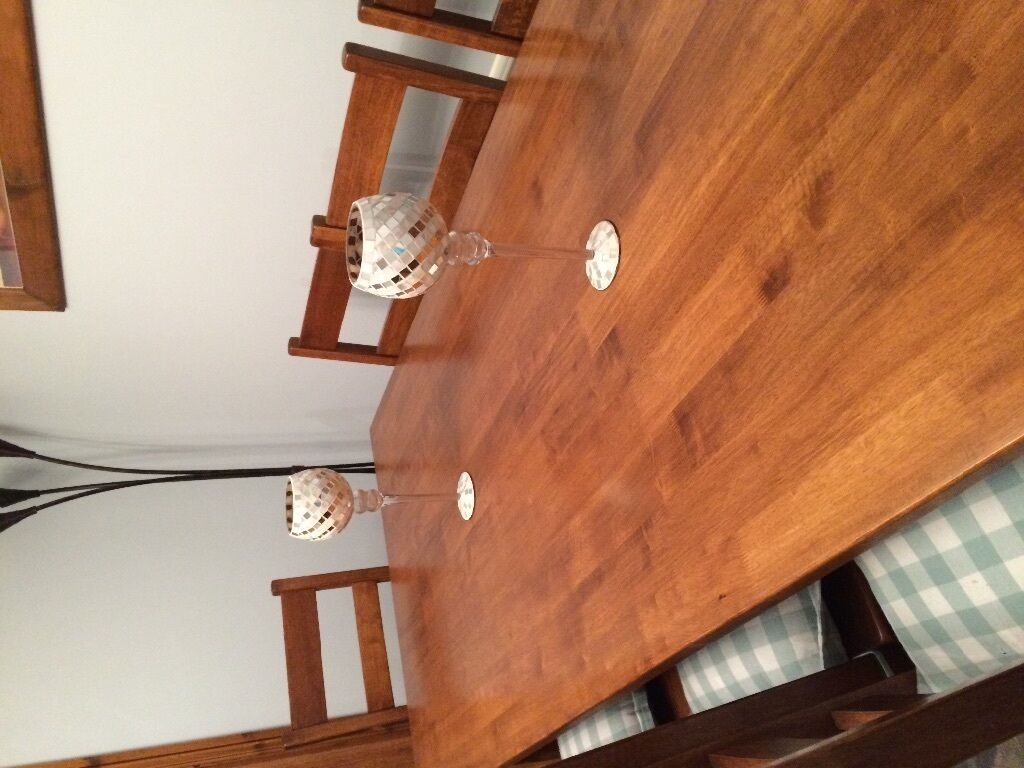Rubberwood Kitchen Table Solid Malaysian Rubberwood Dining Table 8 Chairs Excellent