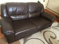 ** 2 SEATER LEATHER SOFA dark Brown for SALE **