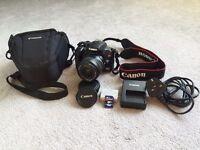 Canon DLSR - EOS 1000D, excellent condition, 8 GB Transcend mem card