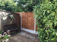 🍭New Pressure Treated Brown Feather Edge Flat Top Fence Panels