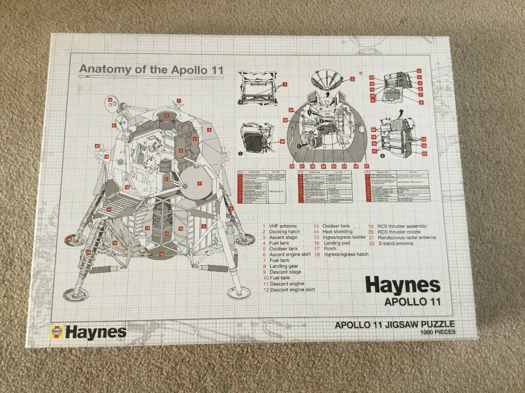 Haynes Anatomy of the Apollo 11 jigsaw puzzle NEW | in Emersons ...