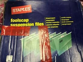 50 STAPLES Green Suspension Hanging Files New £3 JOB LOT collection only!