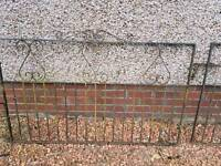 * Reduced * wrought Iron Driveway Gates 4ft 9 each