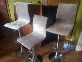 Silver crushed velvet