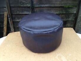 Foot Stool , pouffe , Dark brown , Excellent , faux leather