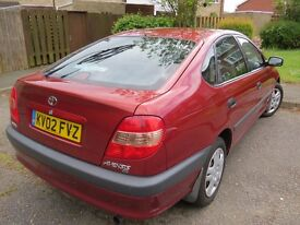 Toyota Avensis 2.0 petrol manual metallic red, 2002 reg,
