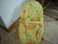 Baby Bouncer Chair with Vibrate and Jungle Animals Toybar Mothercare